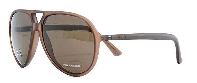 Amazon.com: Gucci gg1090/S – Gafas de sol café w/Polarizadas ...