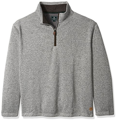 (G.H. Bass & Co. Men's Big Madawaska 1/4 Zip Long Sleeve Sweater Fleece, High Rise, Large Tall)