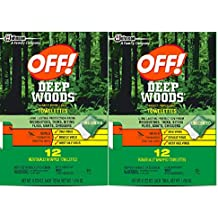 OFF! Deep Woods Insect Repellent Towelettes, 2 Pack
