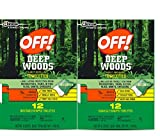 Search : OFF! Deep Woods® Insect Repellent Towelettes, 2 Pack