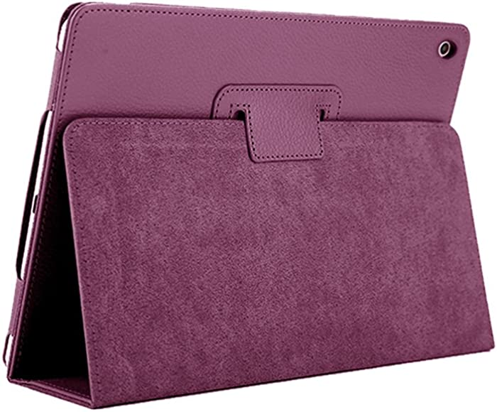 iPad Mini 1 2 3 Case, FANSONG Bi-fold Series Litchi Stria Ultra Thin Magnetic PU Leather Smart Protective Cover Case [Flip Stand,Sleep Function] for Apple iPad Mini 2/3 7.9-inch,Purple