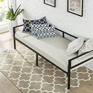 Zinus Brandi Quick Lock 30 Inch Wide Day Bed Frame and Foam Mattress Set