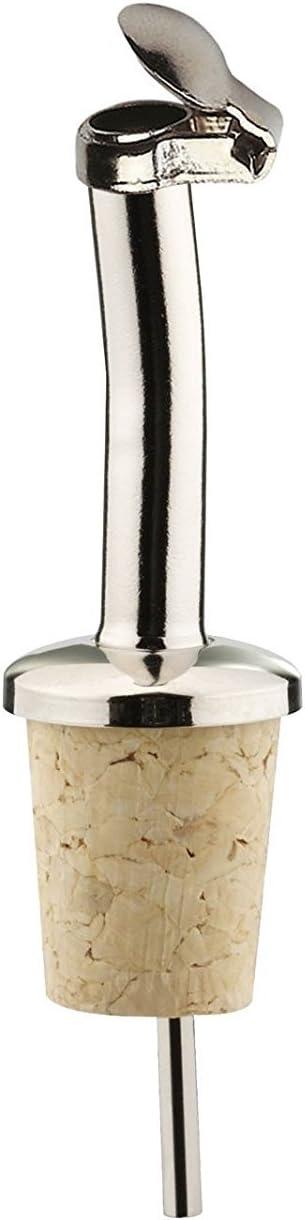 Confezione da 2 Acciaio Argento Nichel Libero Westmark Liquore versatore per Bottiglie Argento Classic Basamento della Ruota Ottone Sughero//Ottone