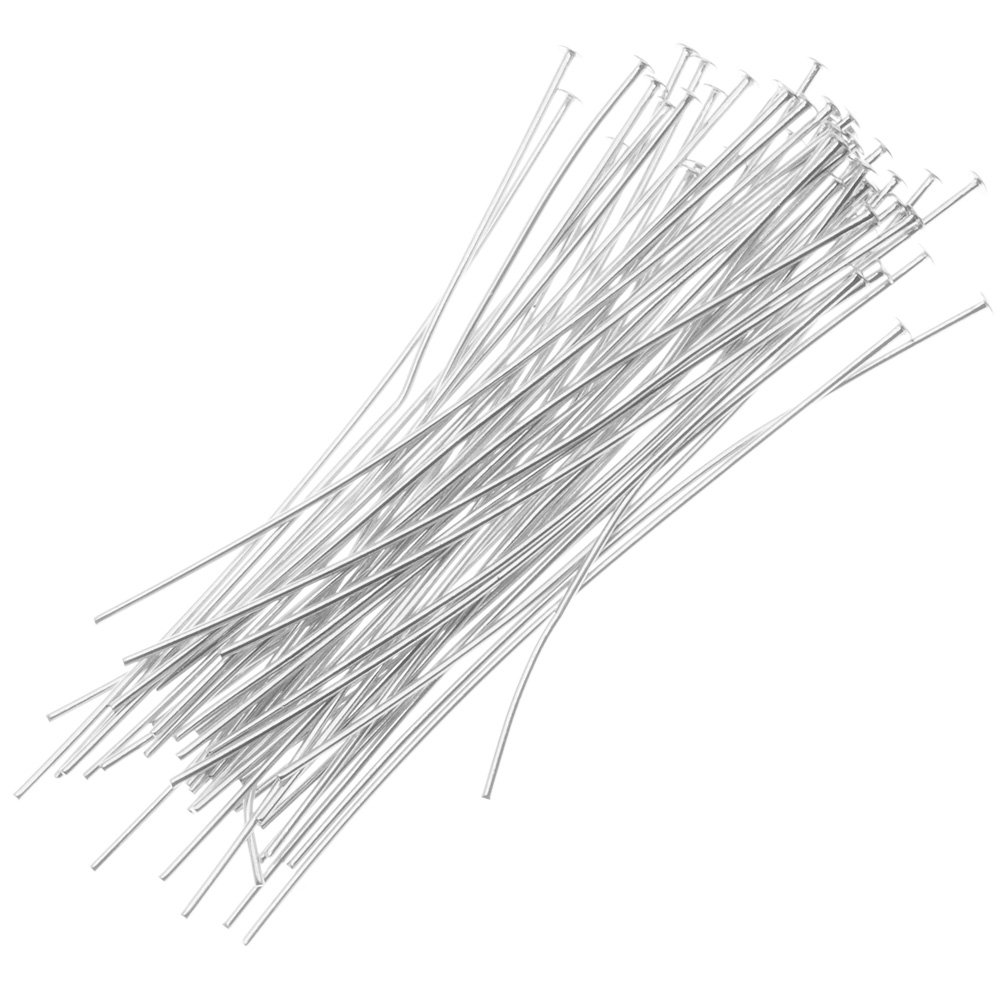Silver Beadaholique SS//H16//112 20-Piece Sterling Head Pins 1.5-Inch 26-Gauge