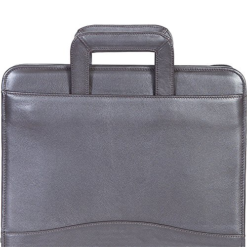 Scully 3-Ring Zip Binder Organizer with Drop Handles (Chocolate) by Scully