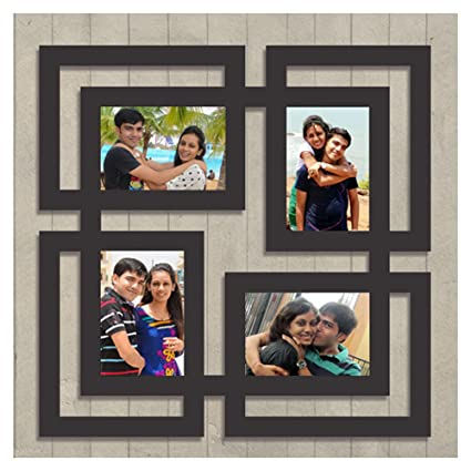 Buy Digi Xpress Personalized 4 Photos Wooden Collage Photo Frame
