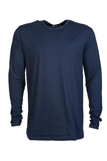 12bae170b09d Amazon.com  Versace Mens Need to Update T Shirt V800491 VJ00180 Size M  Blue  Versace  Clothing