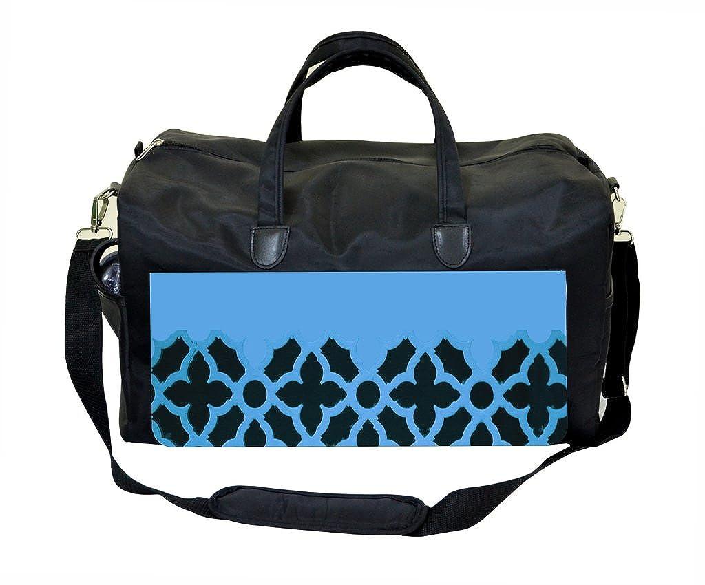 Weekender Bag Blue Half-Lattice
