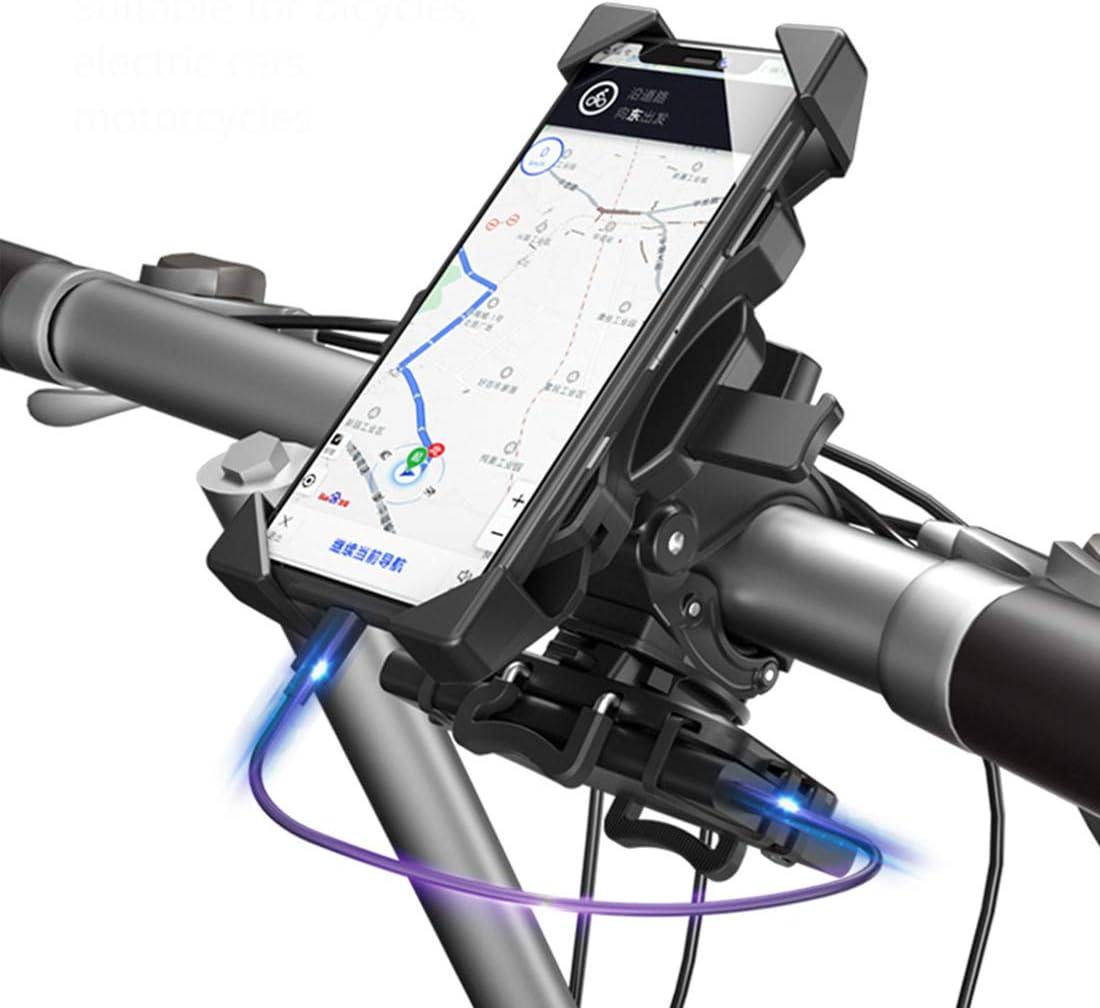 360/° Rotation Cradle Clamp Fahrrad Handyhalterung f/ür 4-6,5 Zoll Smartphones nicht im Lieferumfang enthalten JINSERTA Fahrrad-Handyhalterung mit Powerbank Halterung