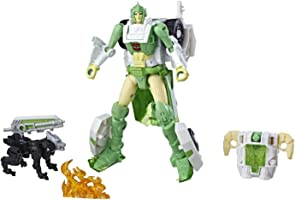 Transformers Generations War for Cybertron:Siege Deluxe Class Autobot Greenlight Action Figure with Dazzlestrike Battle...