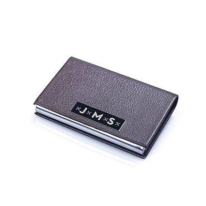 amazon com new town creative dg monogram brown leather business