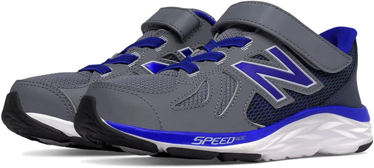 New Balance Boys' KV790V6 Infant Run-K Shoe, Grey/Blue, 6 M US ...