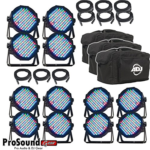 (3) Amercan DJ Products Mega Flat pak Plus LED Lighting (Version) ProSoundGear Authorized Dealer