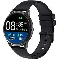 YAMAY Smartwatch, Reloj Inteligente Pulsómetros para Mujer Hombre, Pulsera de Actividad Inteligente Impermeable IP68 con…