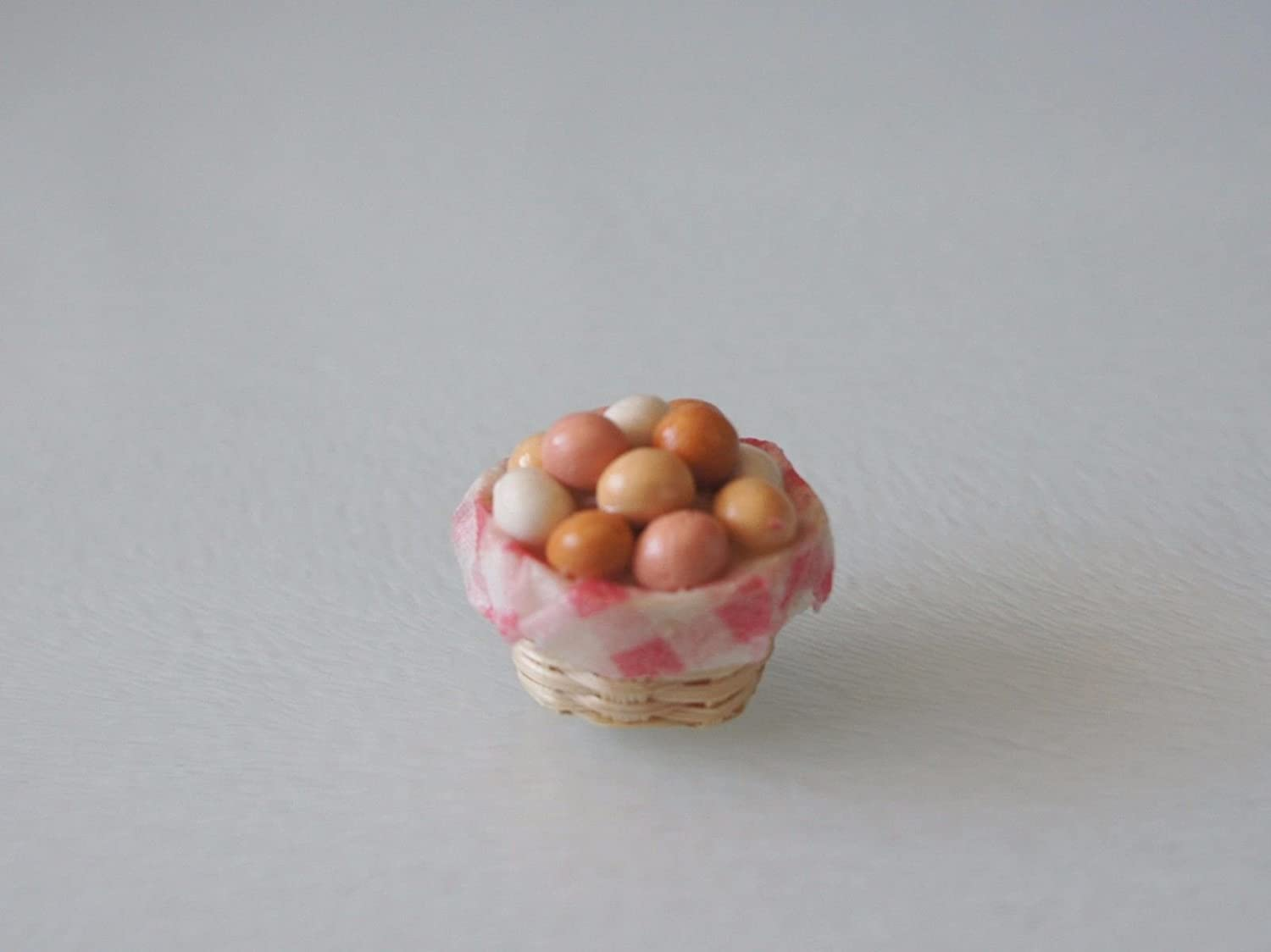 Miniature Dollhouse Eggs Fairy Garden Eggs 12  Loose EASTER Eggs 1:12 Scale
