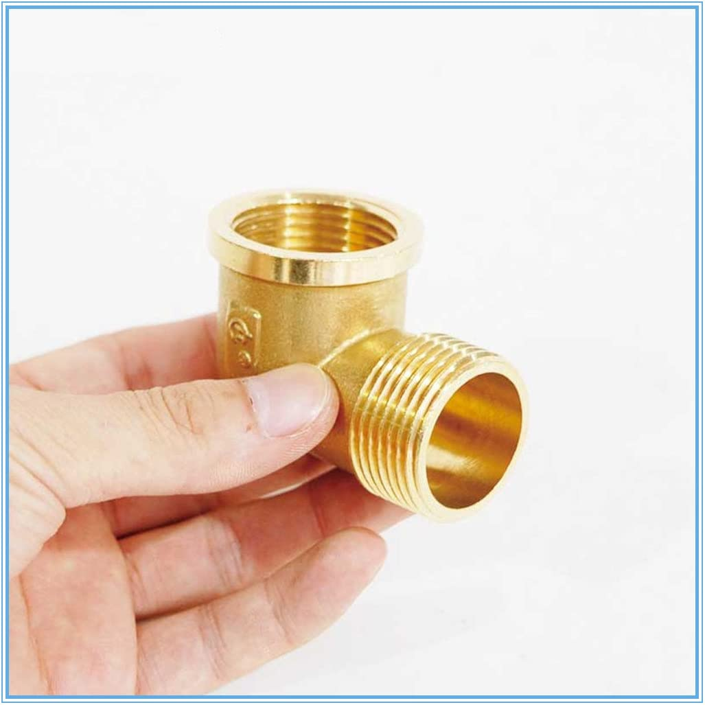 Juijnkt 1//8 1//4 3//8 1//2 Female X Male Thread 90 Deg Brass Elbow Pipe Fitting Connector Coupler for Water Fuel Copper 1//2