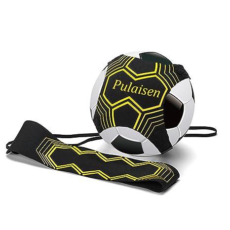 a43c5792cd Pulaisen Hands Free Kick Solo de ballon de football d'entraînement pour  enfants et adultes