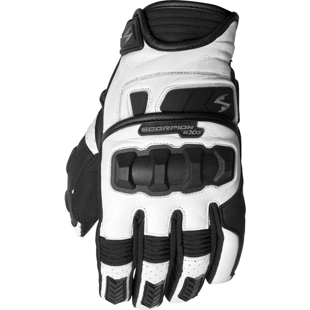 Scorpion Klaw II Mens Leather On-Road Motorcycle Gloves White//Large