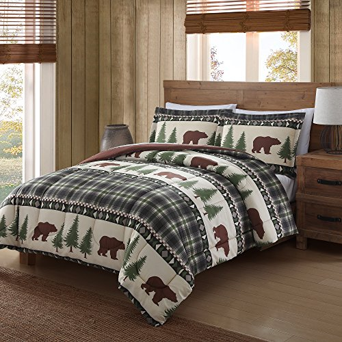 Remington Comforter Mini Set, Twin, Boucher Woods (Set Comforter Plaid Twin Bear)