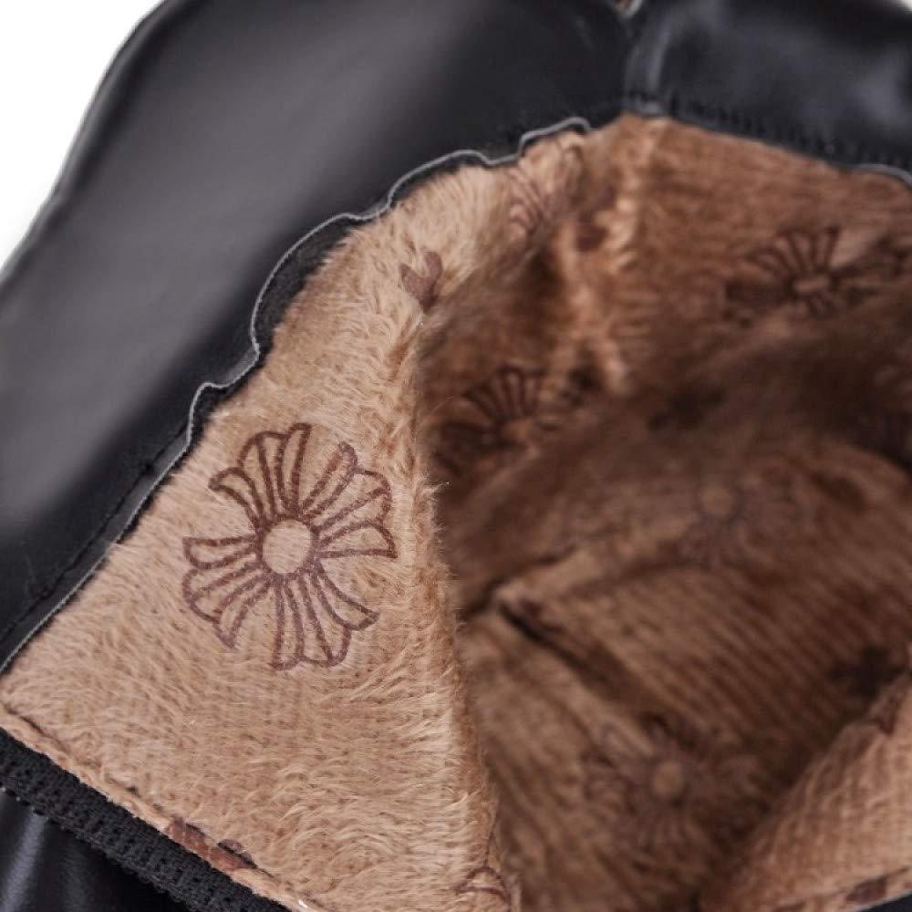 damen Mid High Heel Ferse Stiefeletten Spitz Buckle Block Ferse Heel Zip Biker Schuhe Casual Party Herbst Stiefelies eabfdf