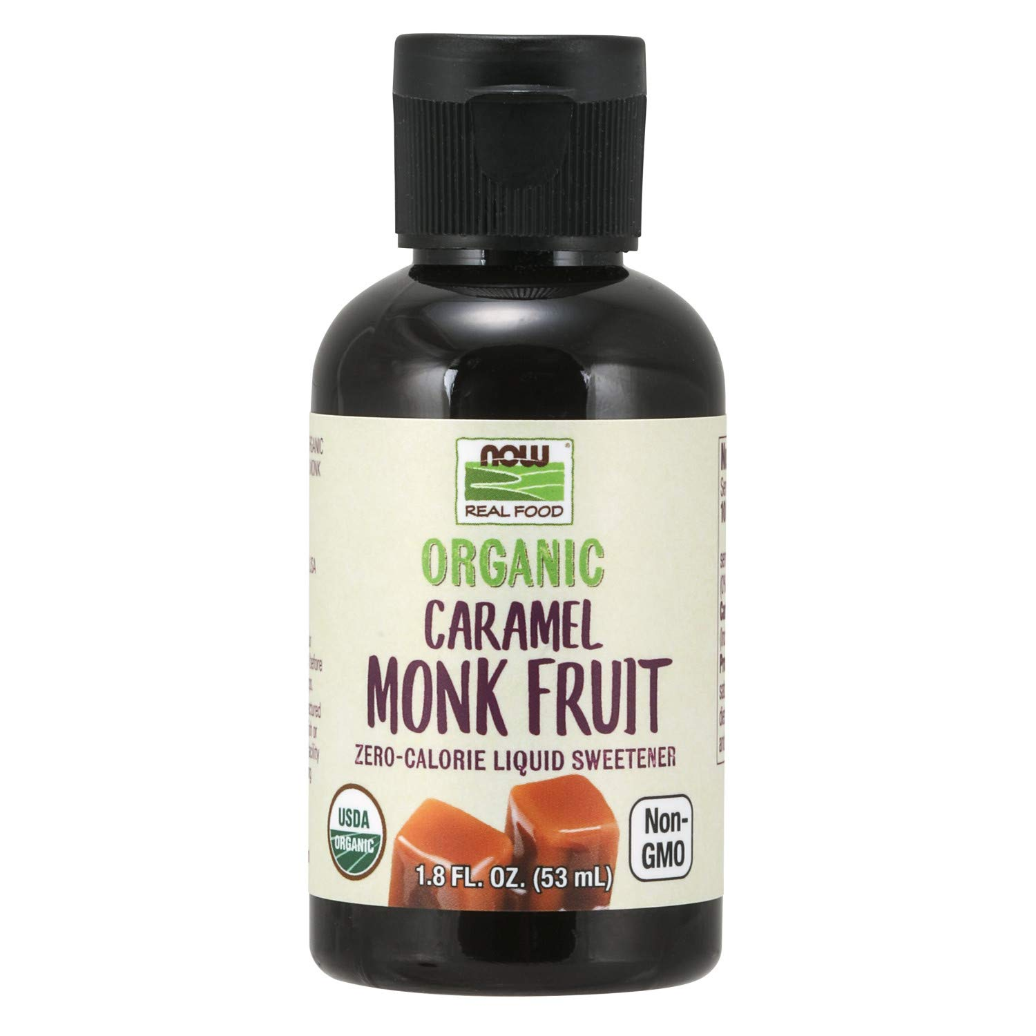 NOW Foods, Organic Liquid Monk Fruit, Zero-Calorie Sweetener, Caramel, 1.8-Ounce