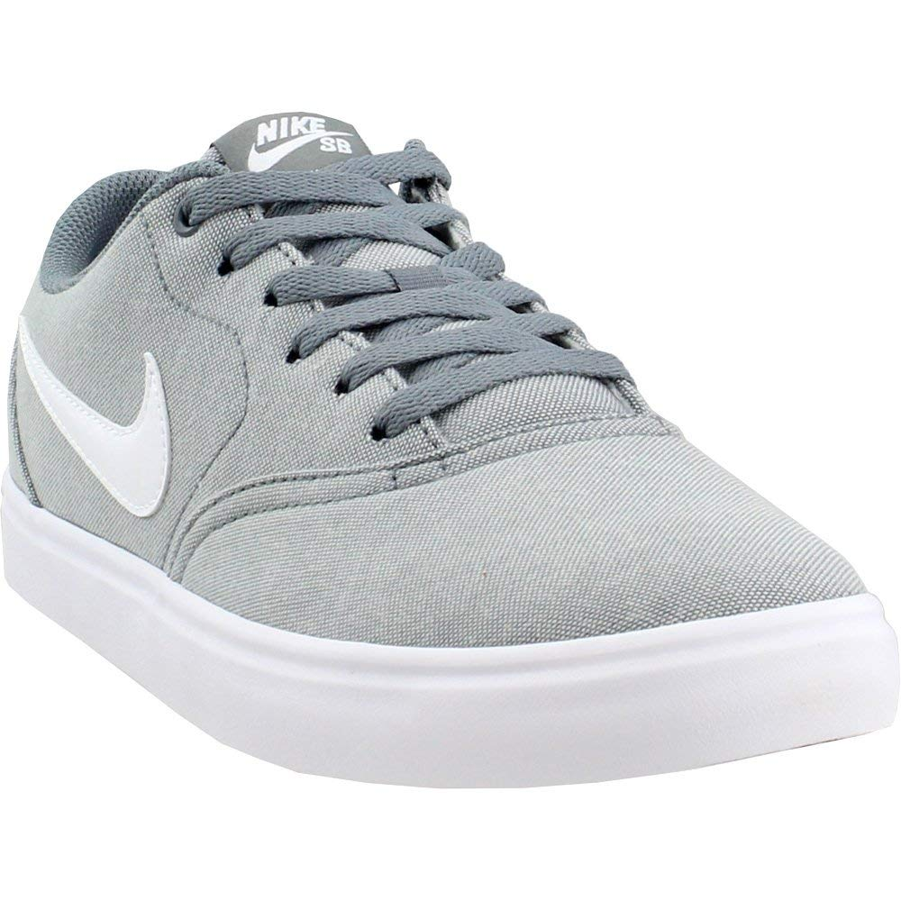 b8eda4ae2961dc Galleon - Nike 843896-003: SB Check Solar Canvas Mens Cool Grey/White  Sneakers (7.5 D(M) US)