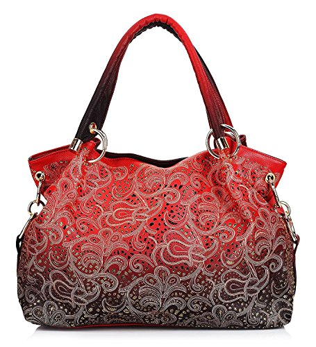 Greeniris Ladies Faux Leather Handbags Sequins Shoulder ...