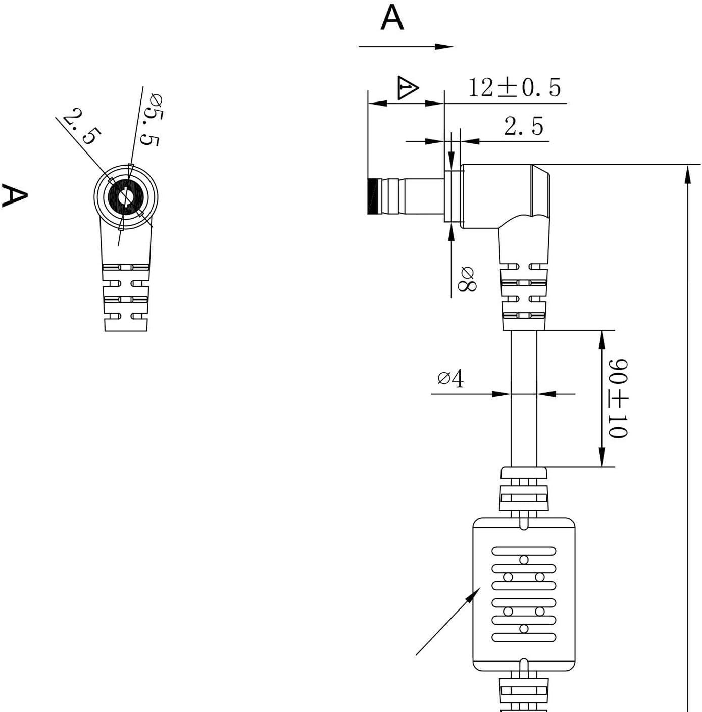 X72F Chargeur original n/°/104 et c/âble dalimentation pour ordinateur Asus X7BJ A52J 19/V 4,74/A 90/W X72D