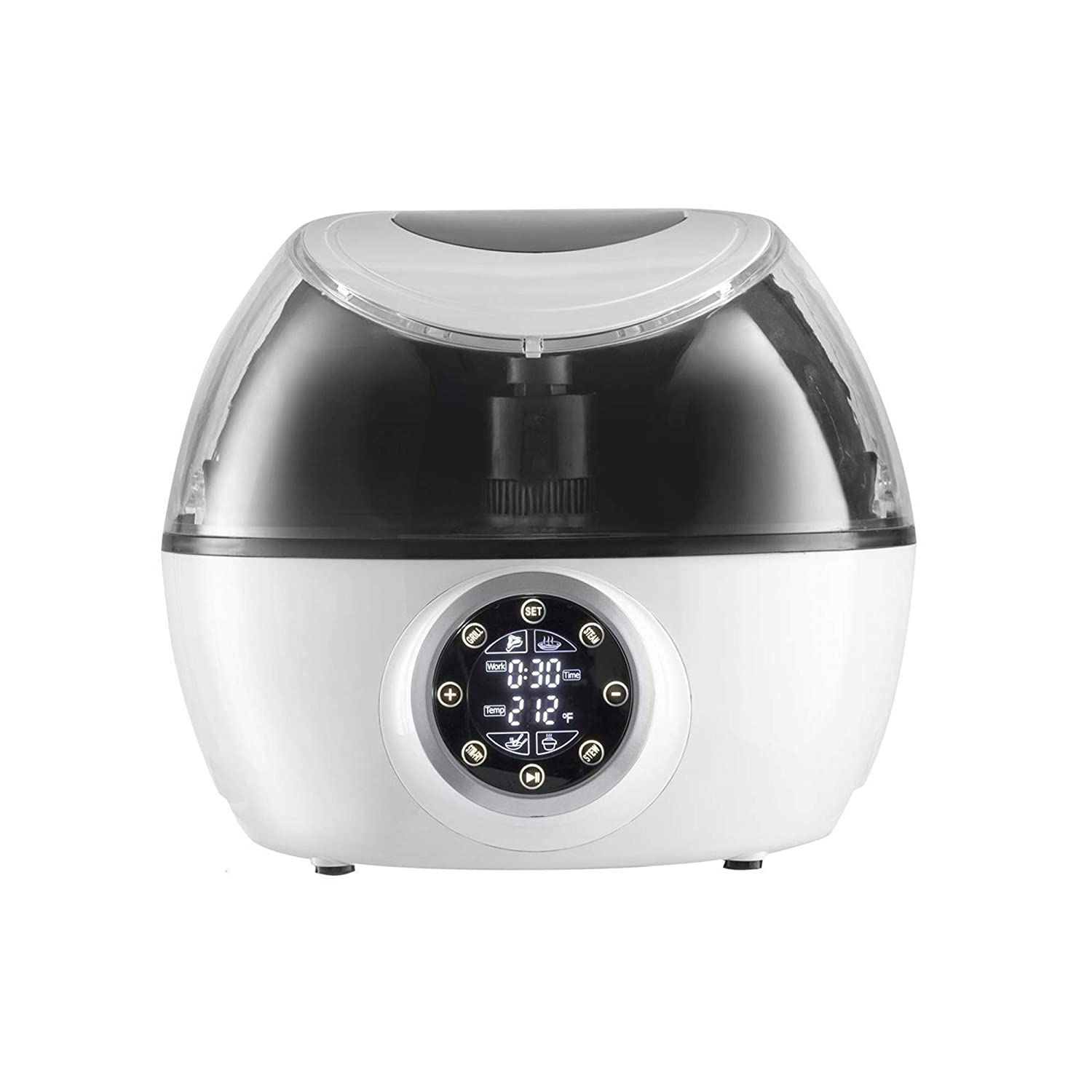 Gourmia GCR-1700 10-in-1 Programmable Multi Cooker with Exclusive Robotic Hands Free Stirrer (Third Generation), White