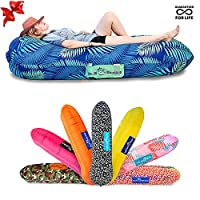 CHILLBO SHWAGGINS 2.0 Best Inflatable Lounger Portable Hammock Air Sofa and Camping Chair Ideal Inflatable Couch and Beach Chair Camping Accessories for Picnics & Festivals