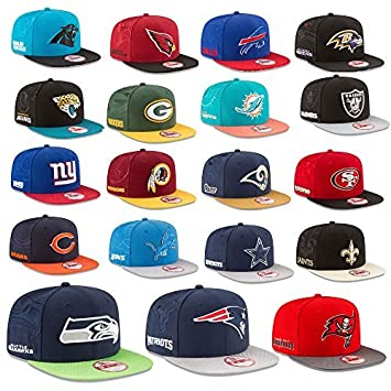New Era Cap 9Fifty Ajustable Gorra NFL Sideline 16/17 Seahawks Raiders Patriots raiders Panteras Broncos ETC - Oakland Raiders #2403, S/M: Amazon.es: ...