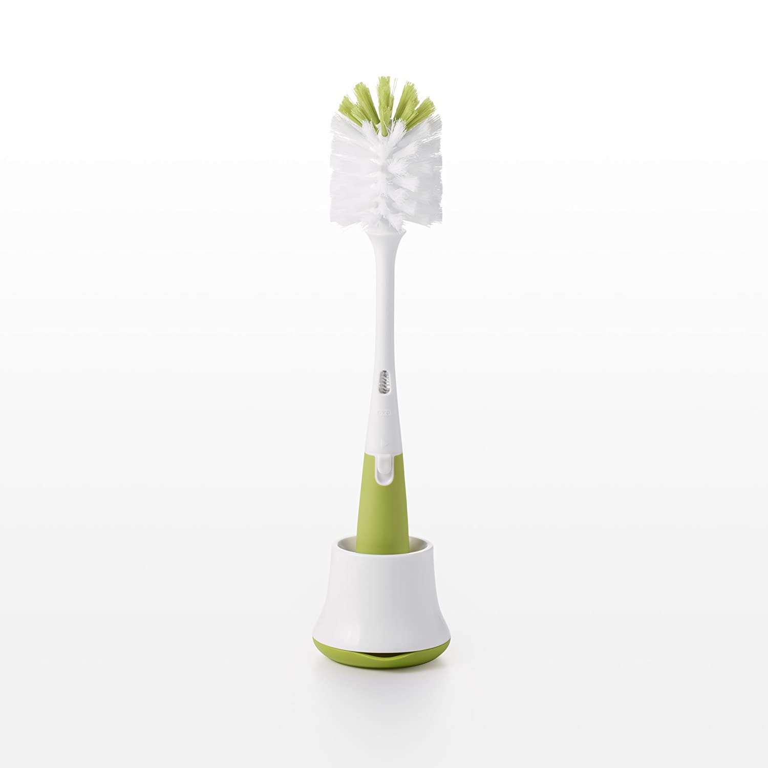 OXO Tot Bottle Brush with Nipple Cleaner and Stand, Green 6207800