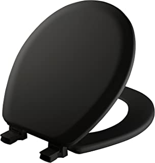 product image for MAYFAIR 841EC 047 Cameron Toilet Seat will Never Loosen and Easily Remove, ROUND, Durable Enameled Wood, Black