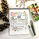Color the Scripture Wall calendar, Adult coloring, wall calendar 2018, christmas gift, stocking stuffers, gift ideas for women