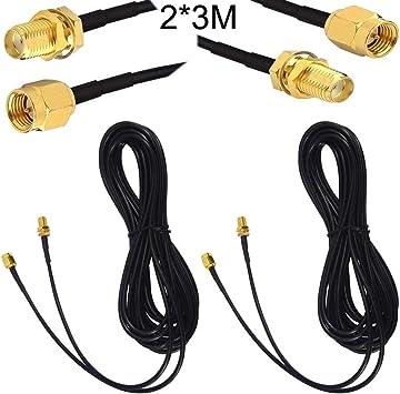 RUNCCI-YUN Cable Antena 4g, Cable de Extensión de Antena SMA,2 ...