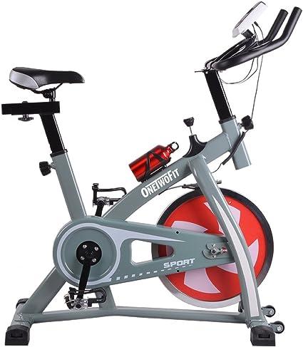 ONETWOFIT Bicicleta de Ejercicios Indoor Ciclismo Spinning Bike Inicio Gym Entrenamiento Cardio Training OT018G: Amazon.es: Deportes y aire libre