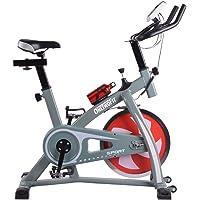 ONETWOFIT Cyclette Professionale da Spinning Cyclette da Allenamento Indoor Fitness Ciclismo, Uso da Palestra Trasmissione a Cinghia con volano, Massima silenziosità, Manubrio e sellino Regolabili