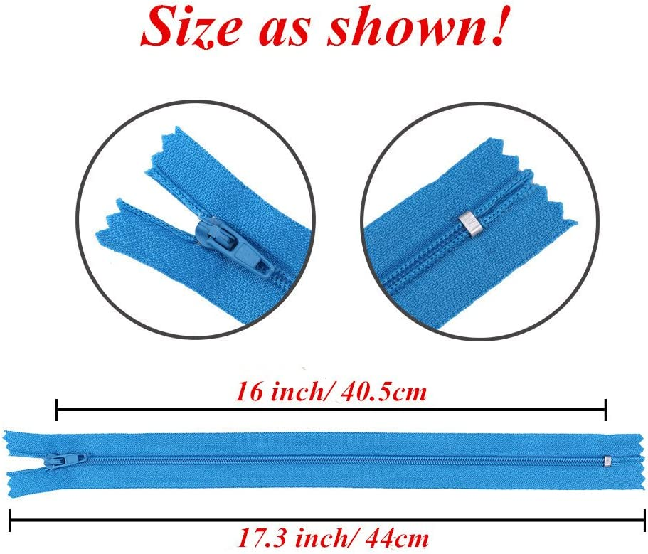 Pack of 100 Nylon Coil Zippers Bulk Supplies for Tailor Sewing Crafts 12 Inch Zippers