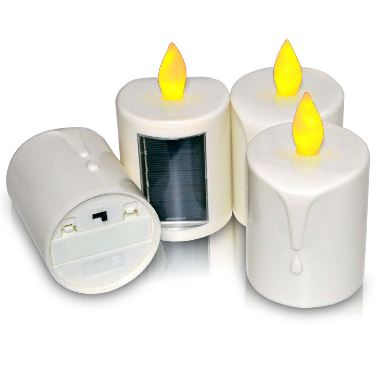 NIGHT KEY LED Solar Power Pillar Candle