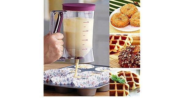 Amazon.com: Cupcake Batter Dispenser Pancake Cookie Cake Muffins Batter Dispenser // Bateador magdalena dispensador magdalenas pastel de galletas panqueque ...
