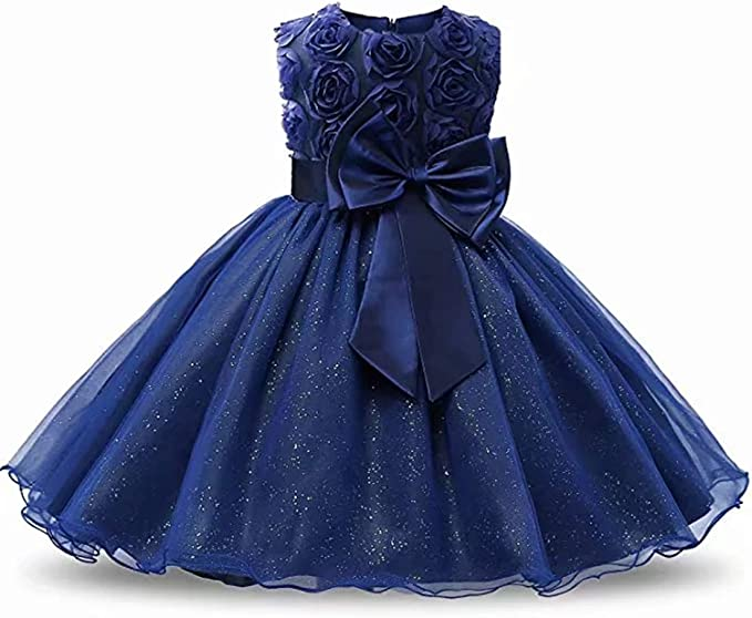 WUEZIFHDB Girls Dresses Kids Dresses for Girls Toddler Flower Girls Sleeve Dresses Girls Formal Gowns