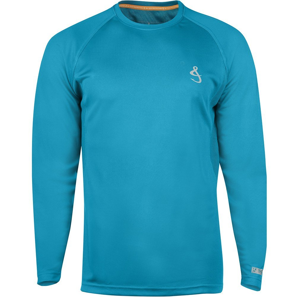 Hook & Tackle Men's Cool Winds Long Sleeve Vented Sun Protection Fishing Shirt Emerald XSmall by Hook & Tackle