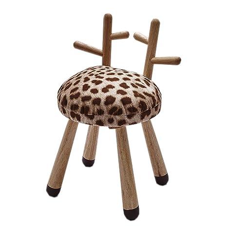 Amazon.com: Asiento de madera para niños con diseño de ...