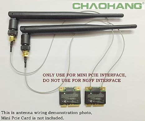 2 12/'/' U.fl Cable For Mod Kit Linksys WRT330N New 2 6dBi RP-SMA WiFi Antennas