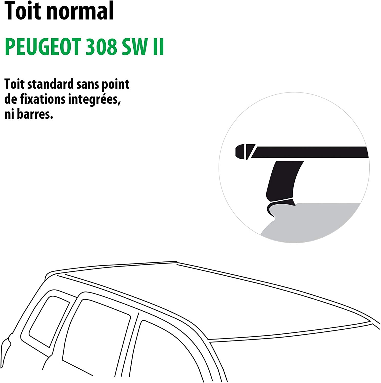 118766-11791-1-FR Rameder Pack Barres de Toit Tema pour Peugeot 308 SW II