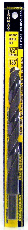 Eazypower 86785 1//2 135-Degree Split Point 6 M2 Black Oxide High Speed Steel Drill Bit 1 Pack