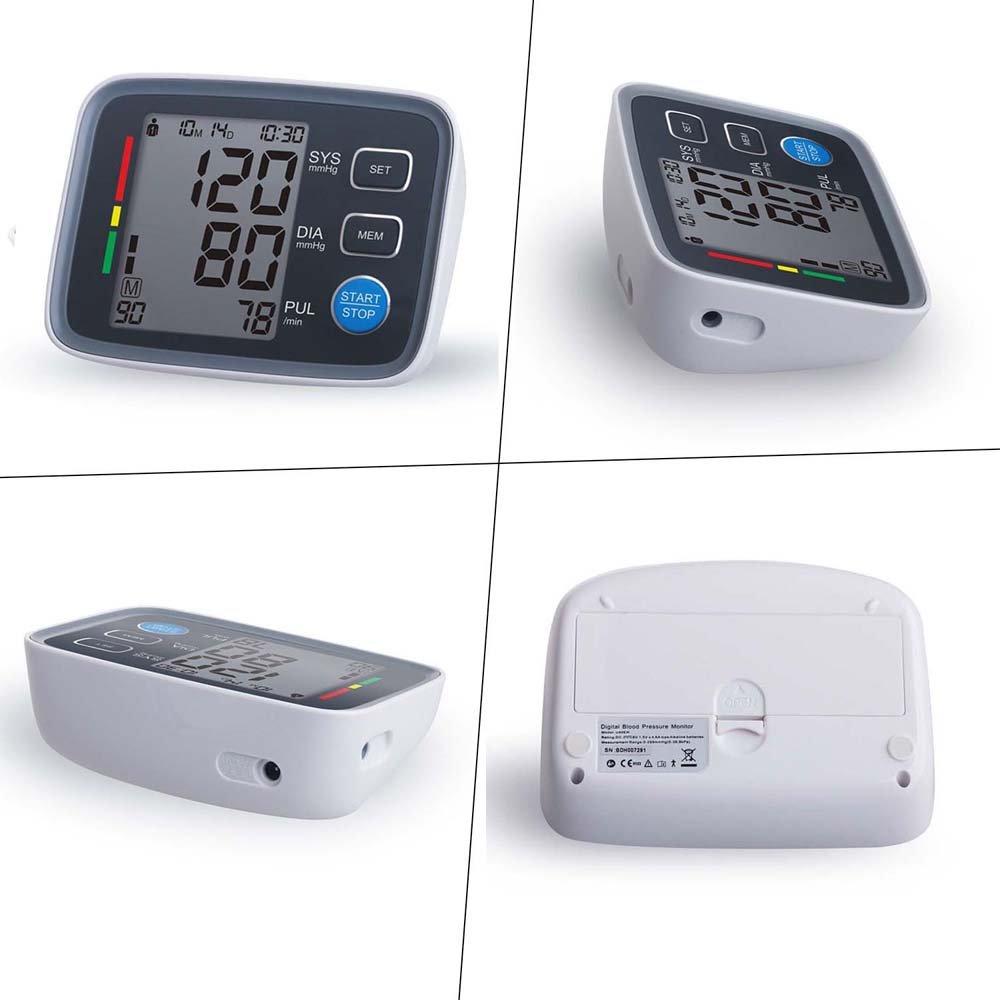 Tensiómetro de Brazo Eléctrico Monitor Digital de Presión Arterial LCD Pantalla para Lectura Fácil Función de Memoria Wrap Cuff Arm Blood Pressure Monitor ...