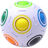 TANCH Magic Rainbow Ball Puzzle Cube Fidget Stress Relief Ball Brain Teasers Games Toys for Kids Adults (12 Holes)