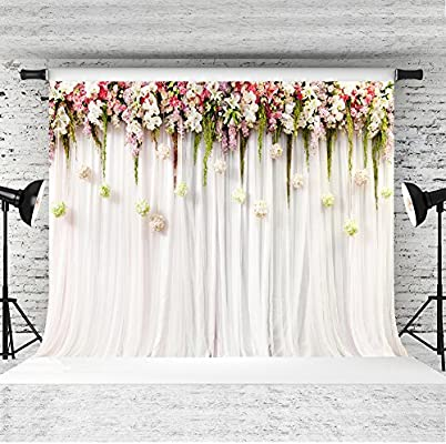 Amazon.com : 7x5ft Floral Backdrop for Pictures Cotton Polyester ...