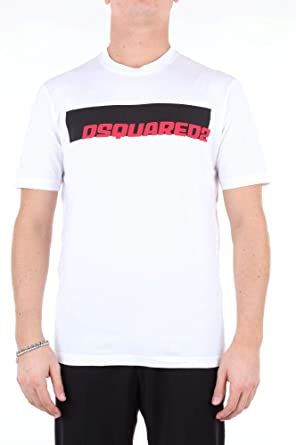 DSQUARED2 Camiseta Blanca con Logo para Hombre (XXL): Amazon.es: Ropa y accesorios